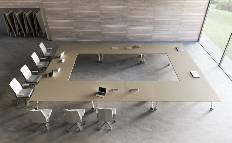 Nimble-Large-Conference-Table,-bespoke-top,-Roomset-with-folding