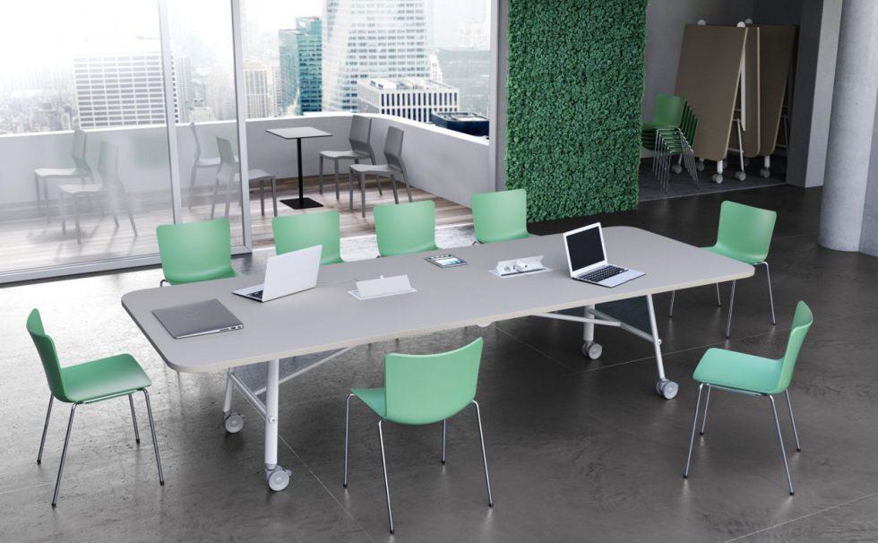 Nimble-Large-Conference-Table,-castors-&-folding,-Roomset